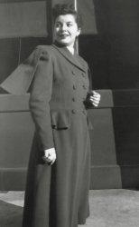 Cape Collar Coat: late 1940's