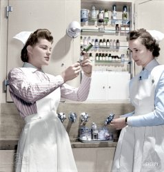 Nurse Needles (Colorized): 1942