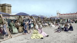 Catching Some Rays (Colorized): 1904