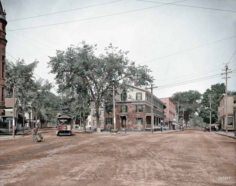 Pleasant and Main (Colorized): 1907