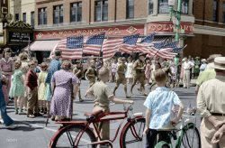 Fourth and Main (Colorized): 1941