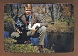 Pete with Graflex: 1950