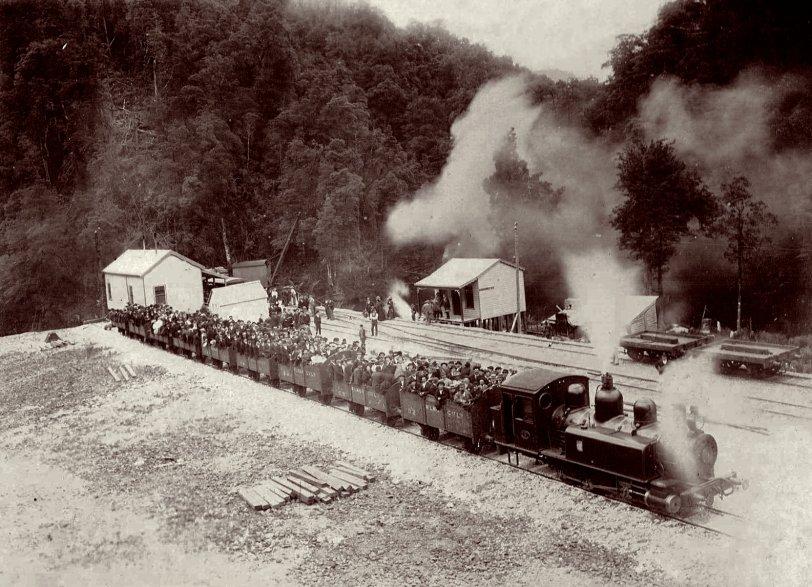 Train at Teepookana Tasmania: 1898