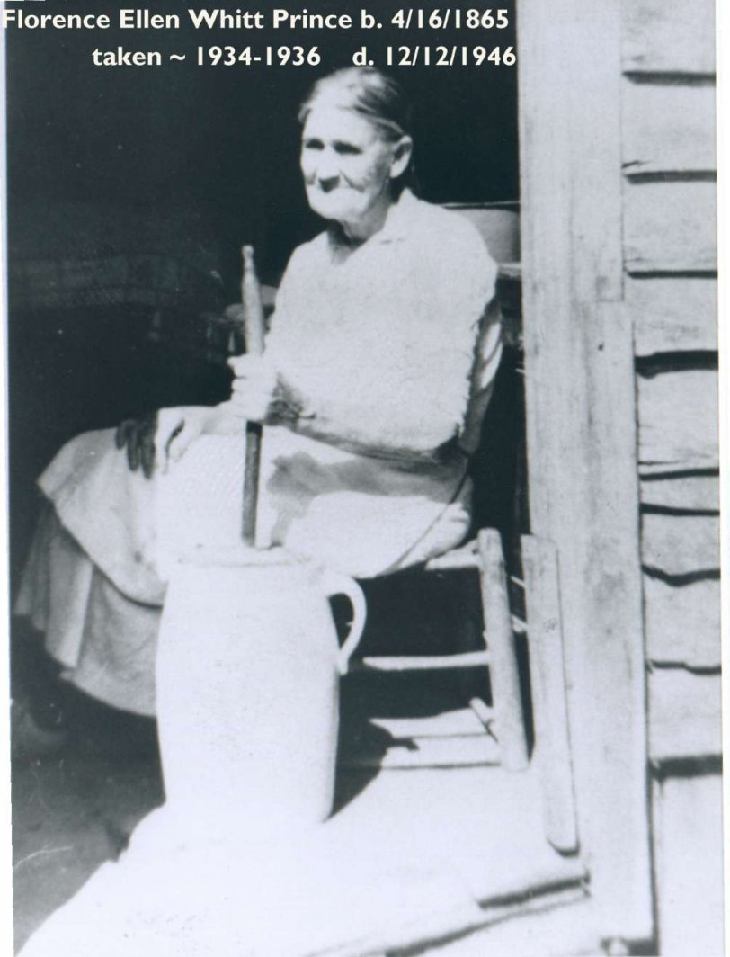 Florence Whitt Prince churning butter
