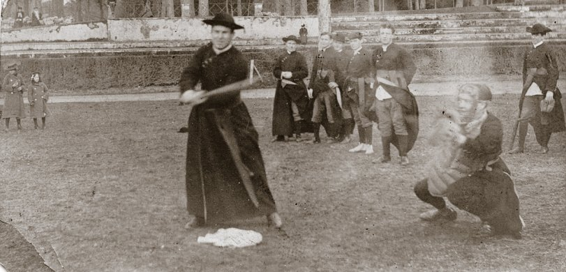 Catholic Priests Playing Ball C 1900 Shorpy Old Photos