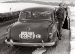 Mother-in-law with a Mercedes