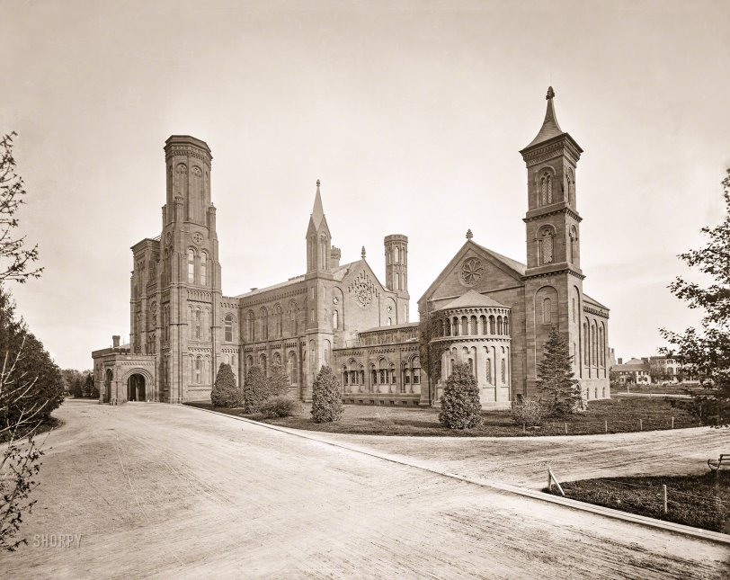 Smithsonian Castle: 1860s