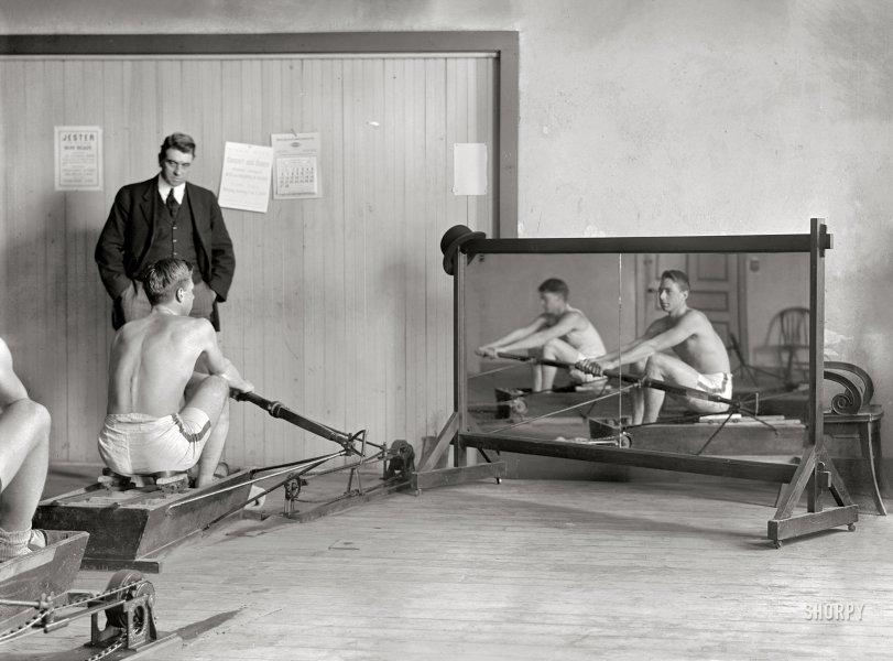 Crew Squad and Coach Rice: 1910