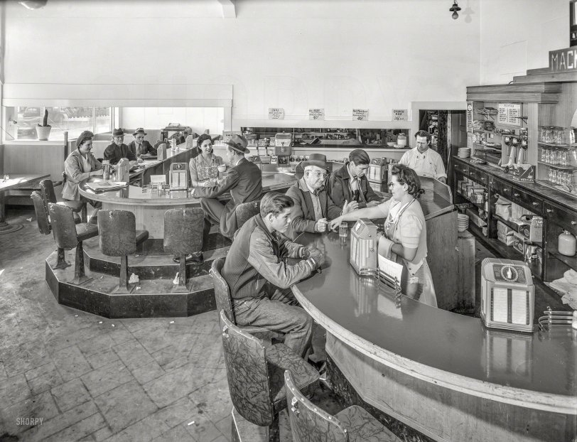 Mackey S Creamery 1943 Shorpy Historical Photos