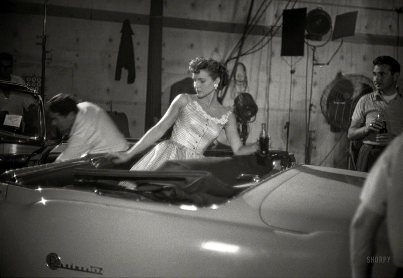 Betty in a Buick: 1954