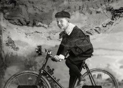 Boy on a Bike: 1900
