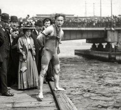 Houdini Swims: 1908