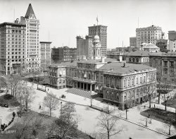 Morning in Manhattan: 1900