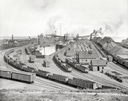 Iron Ore on Erie: 1900