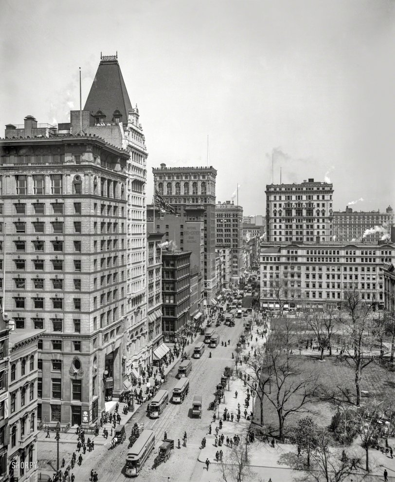 Broadway From Above: 1903
