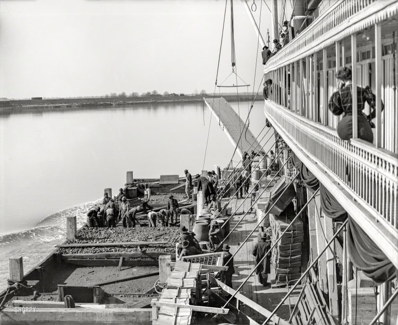 Coaling on the River: 1906