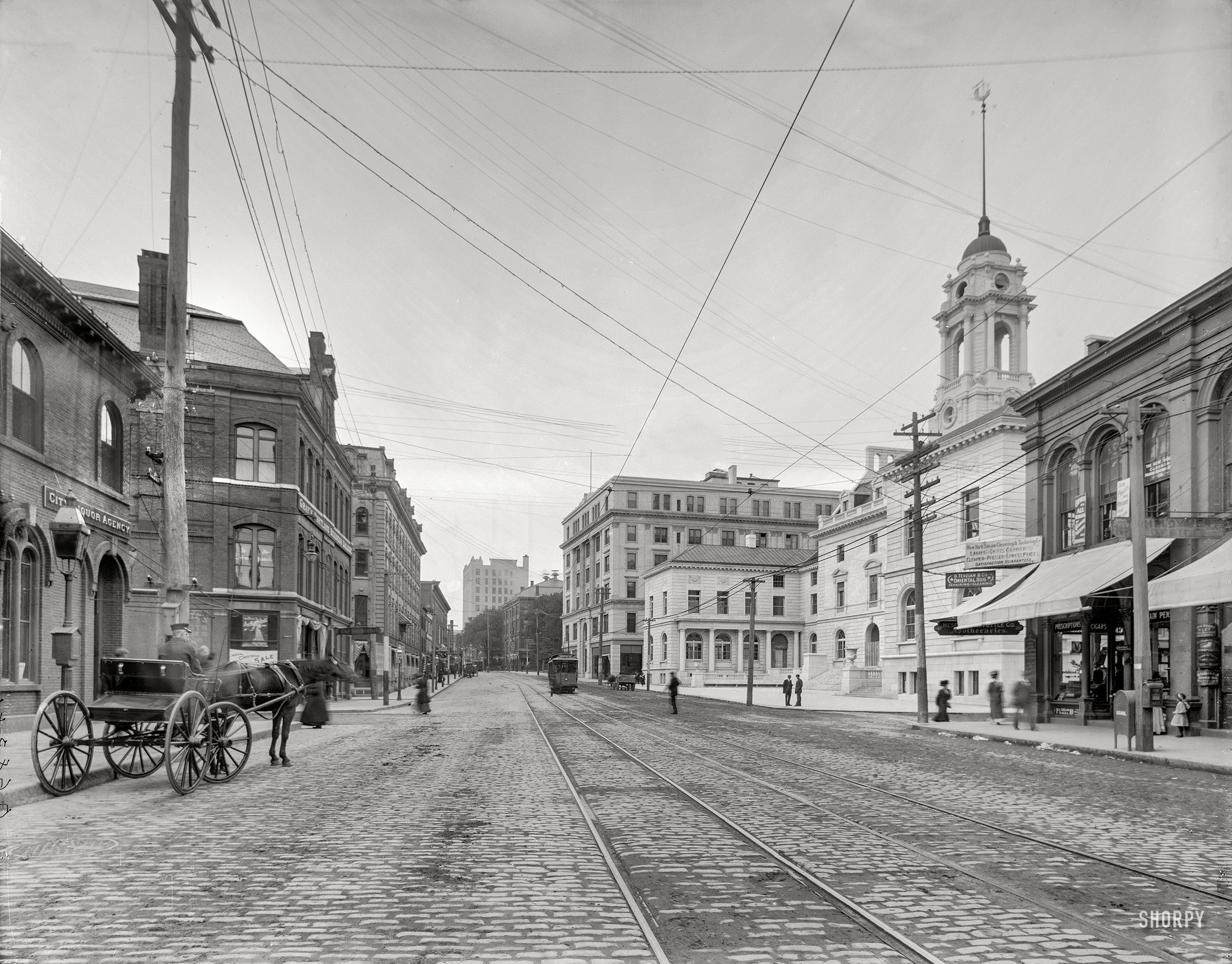 Shorpy Historic Picture Archive Congress Street 1909