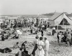 Beach Scene: 1908