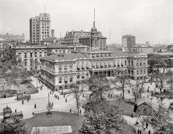 City Hall Park: 1910