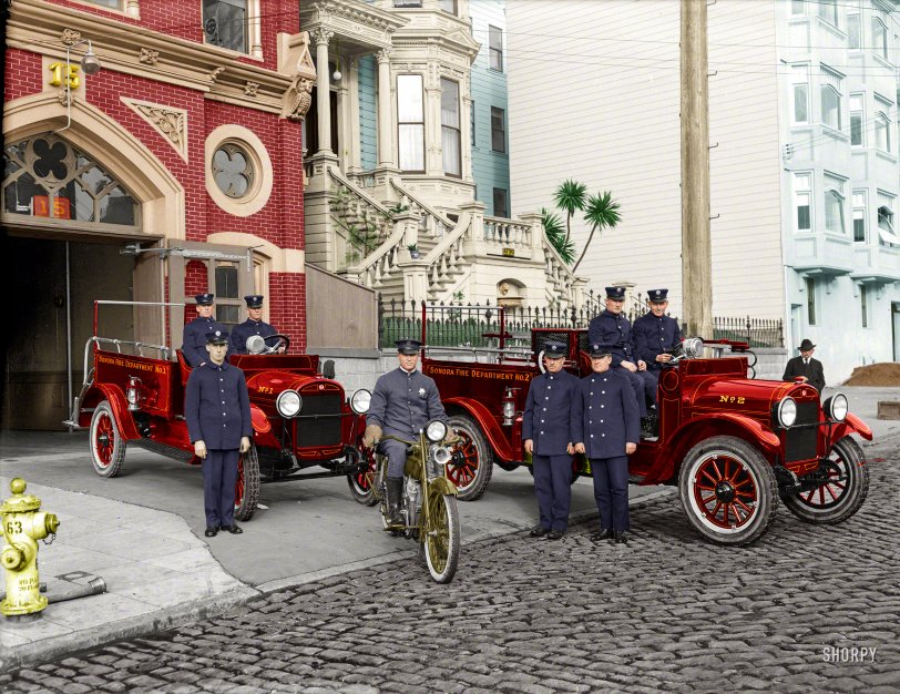 The Firehouse (Colorized): 1921