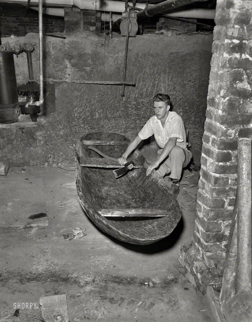 Crawlspace Canoe: 1950s