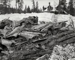 Car Pyre: 1955