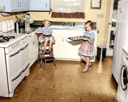 A Fresh Batch (Colorized): 1955