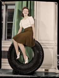 On a Roll (Colorized): 1942