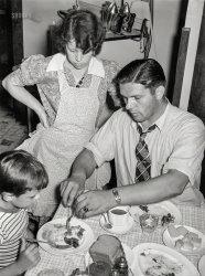 Dad at Dinner: 1938