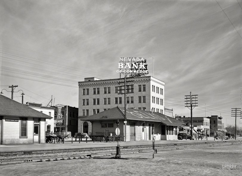 Elko Depot 1940 Shorpy Vintage Photography
