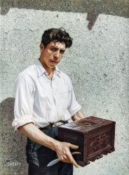 Chest Carver (Colorized): 1940