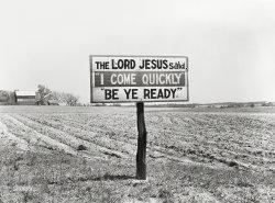A Sign Unto You: 1939