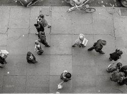 City Sidewalk: 1940