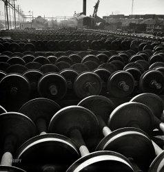 Field of Wheels: 1942