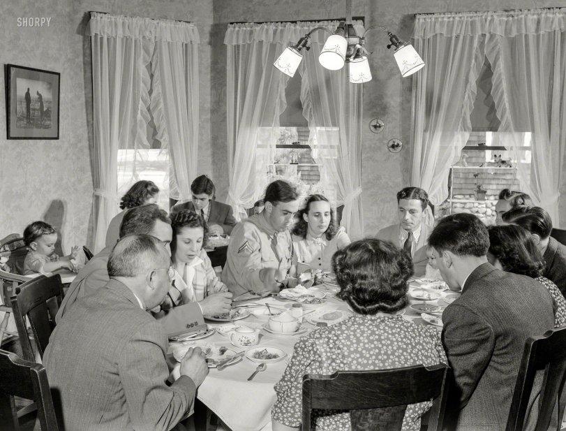 Sunday Dinner: 1942