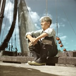 Future Fisherman (Colorized): 1942