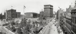 Public Square Panorama: 1908