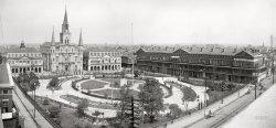 Jackson Square Panorama: 1903