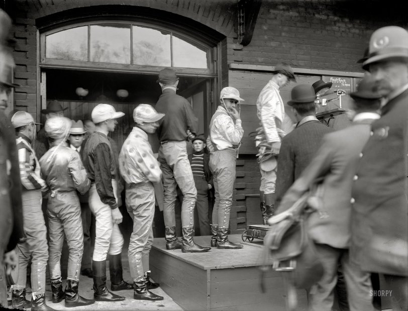 Weighing the Jockeys: 1908