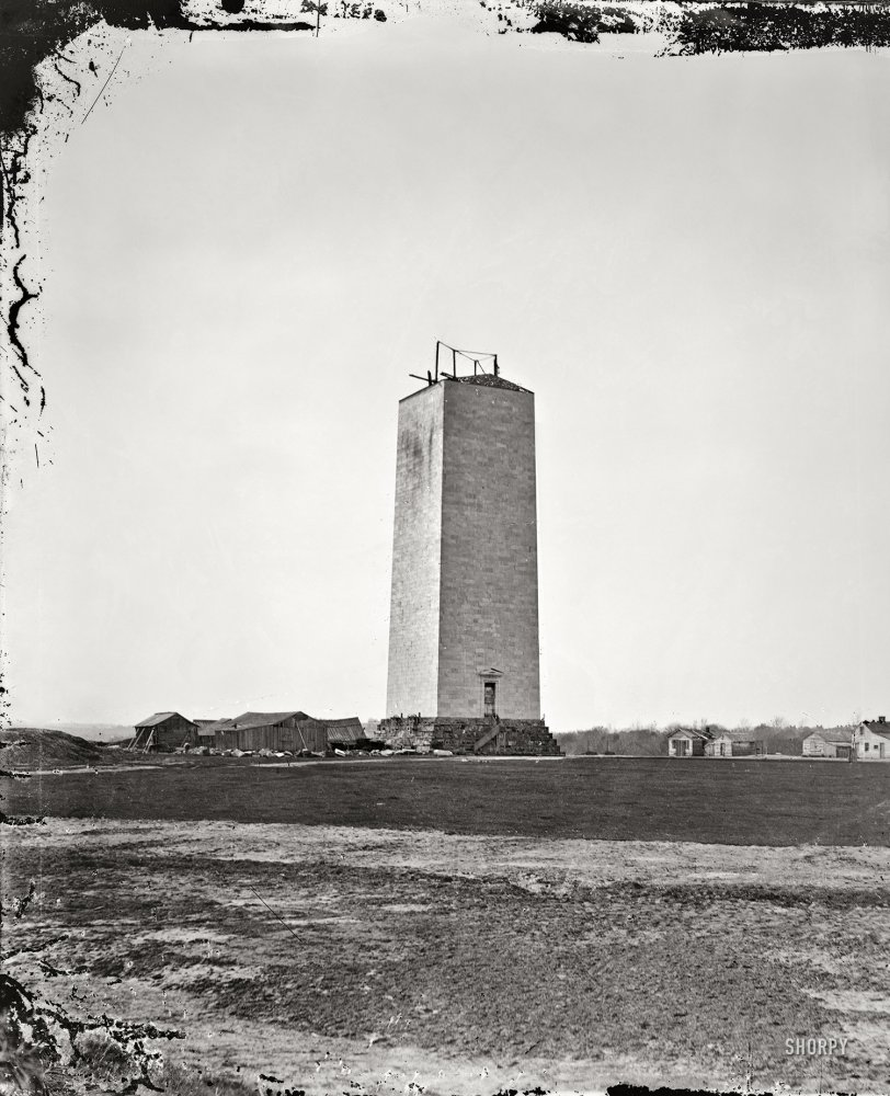 Washington Monument: 1860