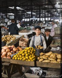 Onions, Limes, Potatoes (Colorized): 1908