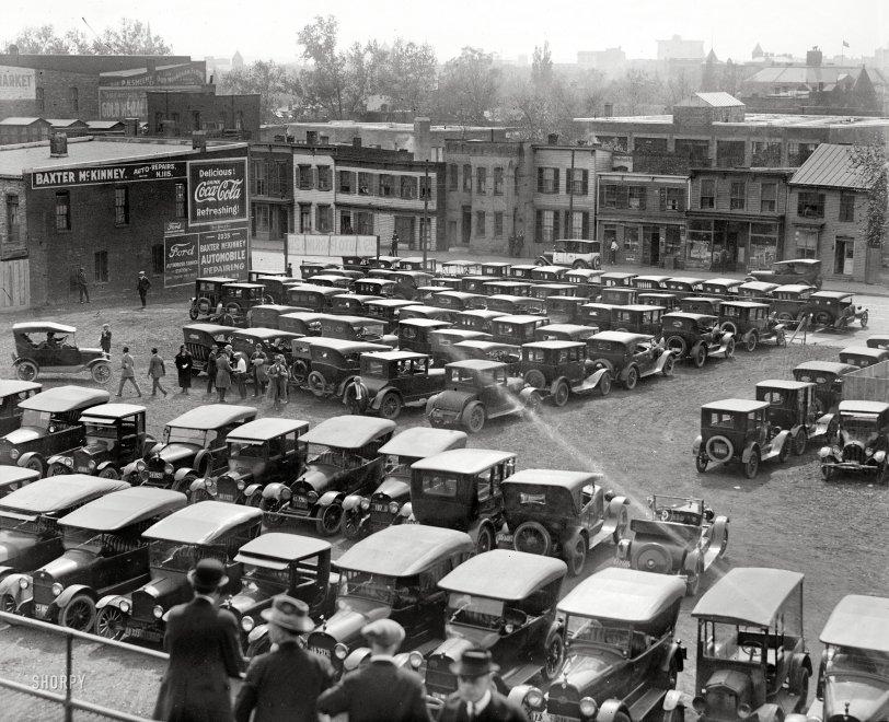 Auto Parking 25¢: 1923
