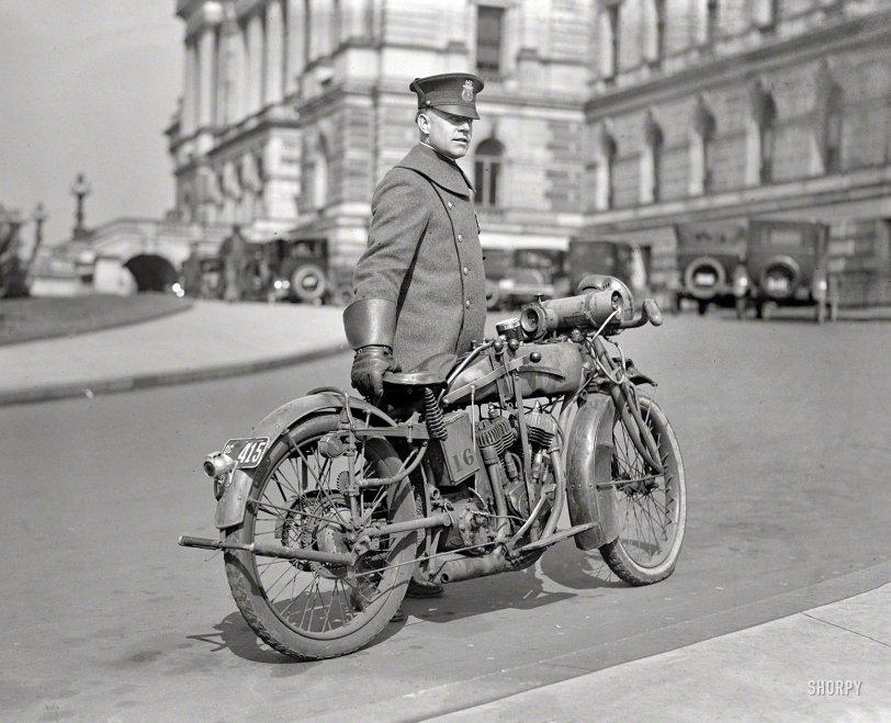 Motorcycle Cop: 1924