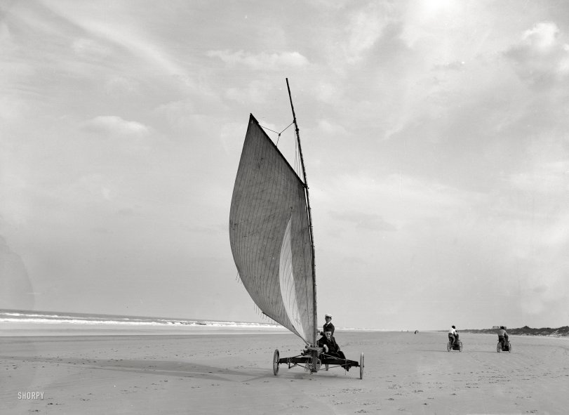 Sailing on the Sand: 1903