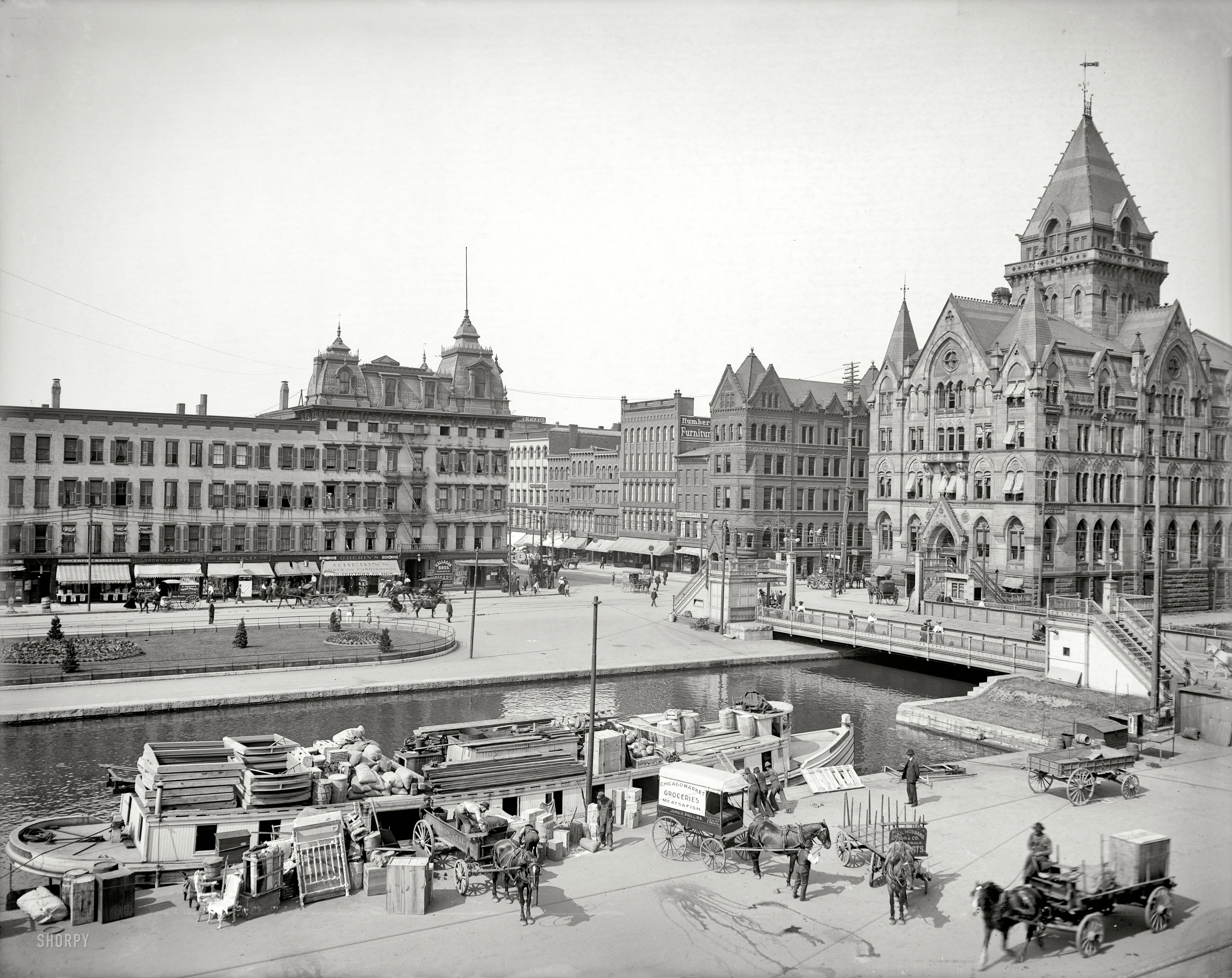 Shorpy Historic Picture Archive Clinton Square 1905 high