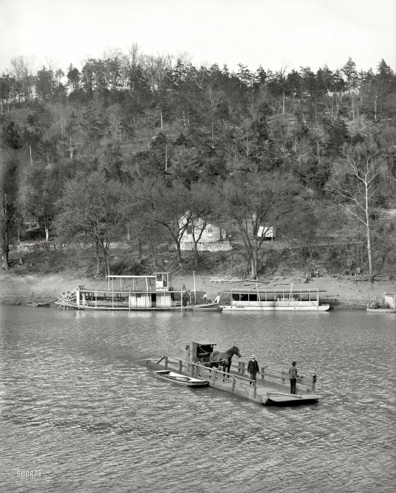 Primitive Ferry: 1907