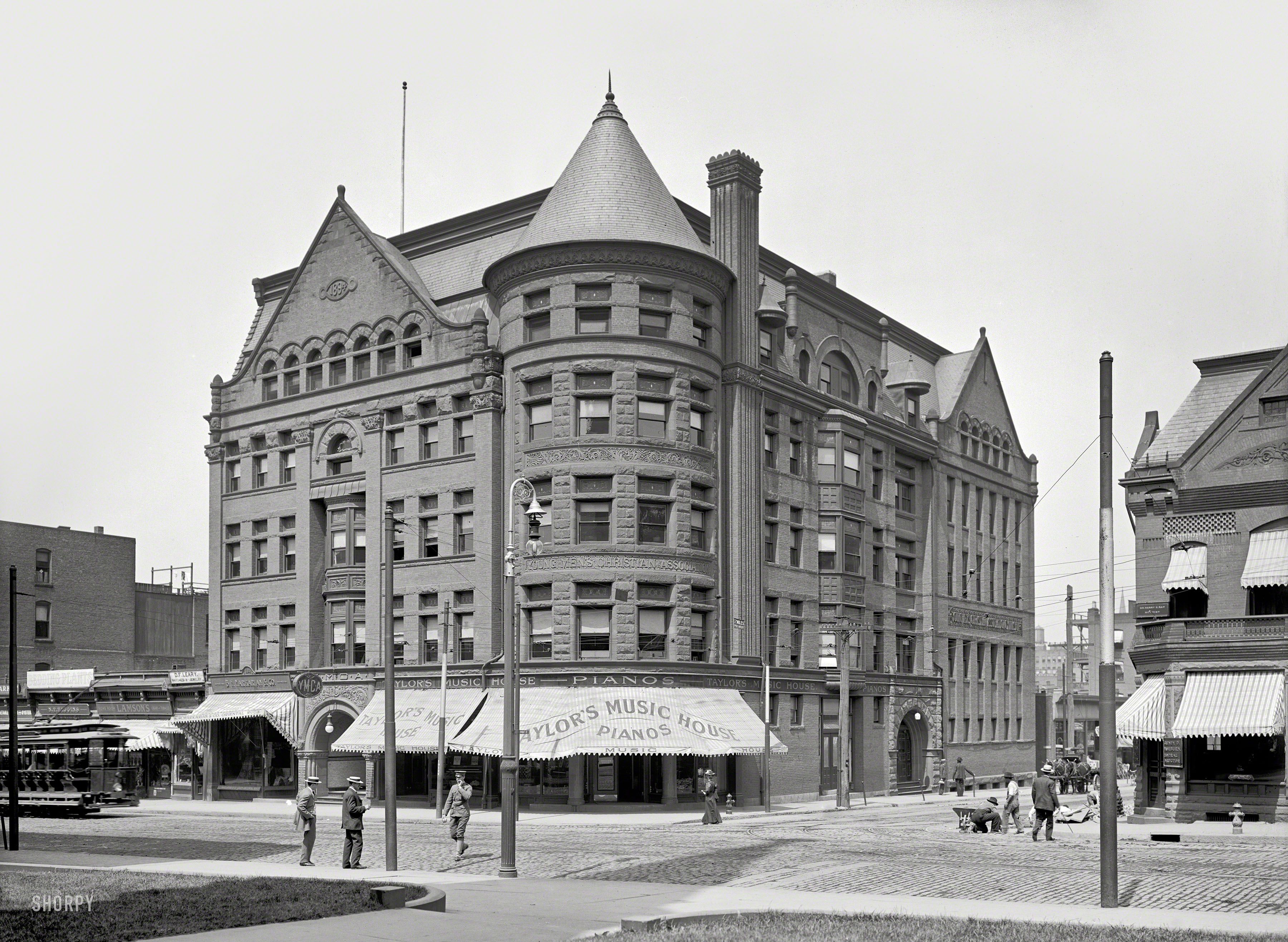 Shorpy historic picture archive music house 1906 high for Building a house in ma