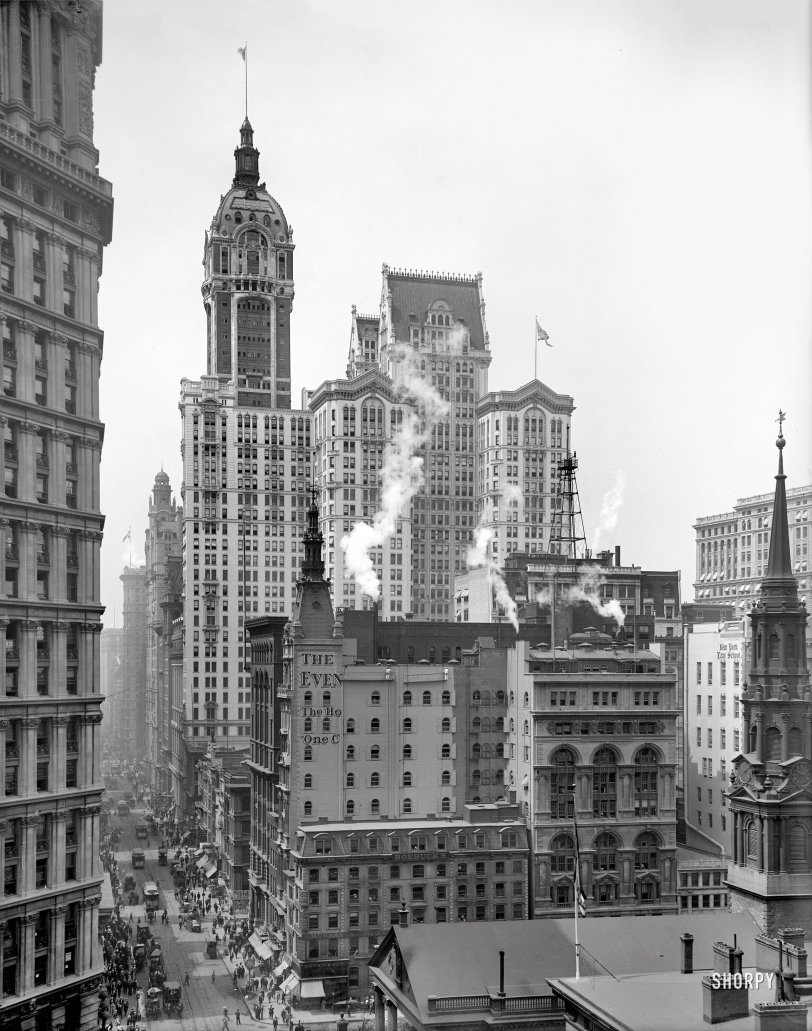 Down Broadway: 1910