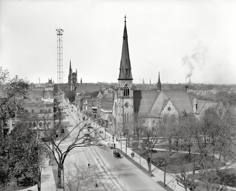 Up Woodward: 1908
