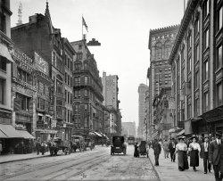 Bustling Broadway: 1910